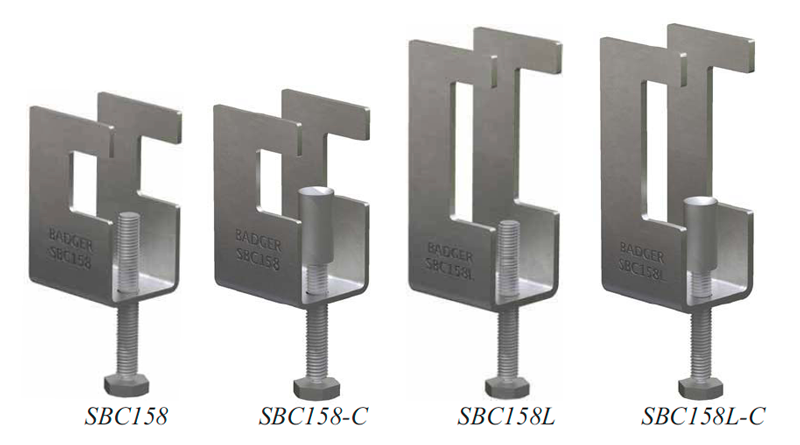 Badger SBC158 Seismic Steel Beam Clamp Products