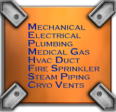 MEP, Mechanical, Electrical, Plumbing, HVAC, Sprinkler Piping, Fire Protection